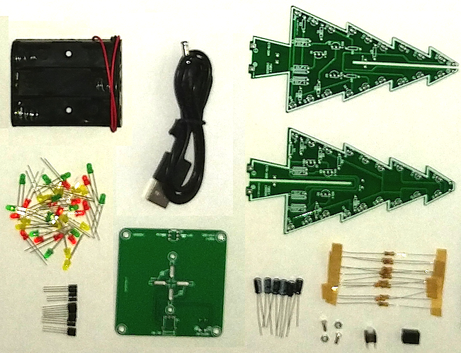 instructions • 3d led christmas tree • hackaday io each of the 10k resistors and 47uf capacitors form an rc oscillator that periodically pushes the associated transistor on the three sets of rc oscillators