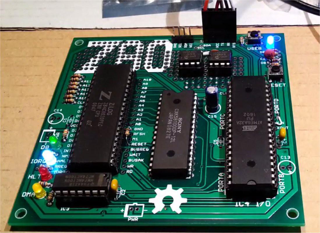 GRIX IT FORUM - Retrocomputing: Un mini sistema Z80 da 4$ con 4 IC