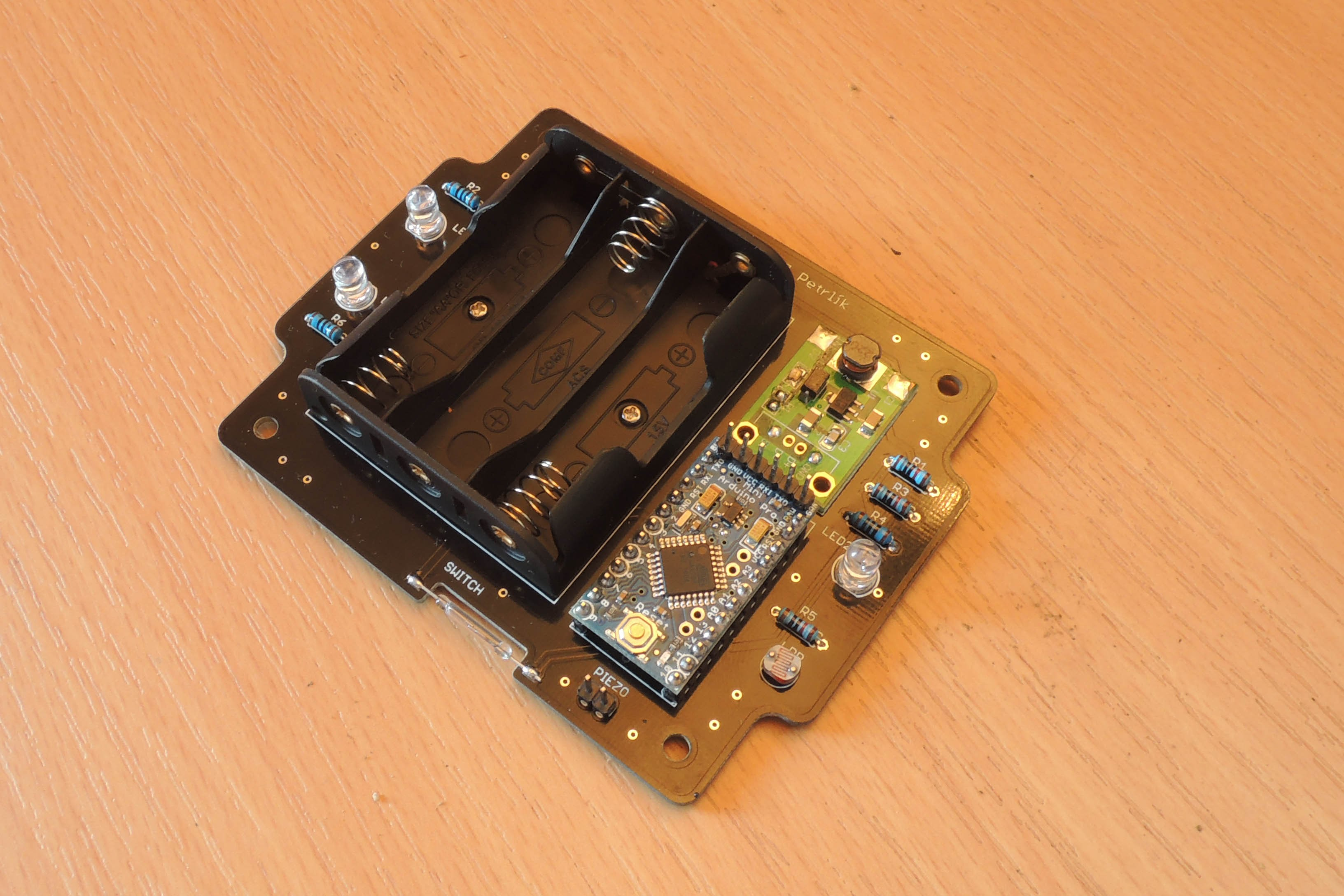 Deer Electronic Repeller Circuit Board Attached To A Small Piezo Speaker And Powered By Two Aa Custom Dc Power Supply Has Been Replaced With Module From China For Accessibility Everyone Easier Soldering