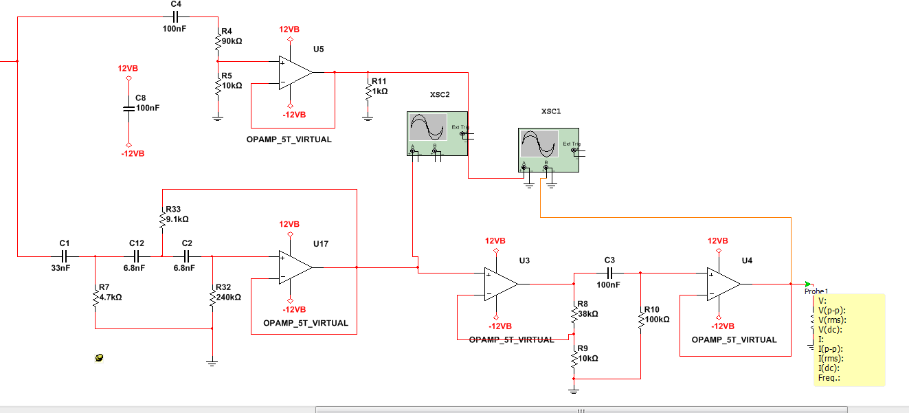 Project Grid 2 Audio High Pass Filter Circuit Diagram Ignoring The Op Amp At Top Bottom Three Perform Following Functions In Order Third Voltage Gain Offset