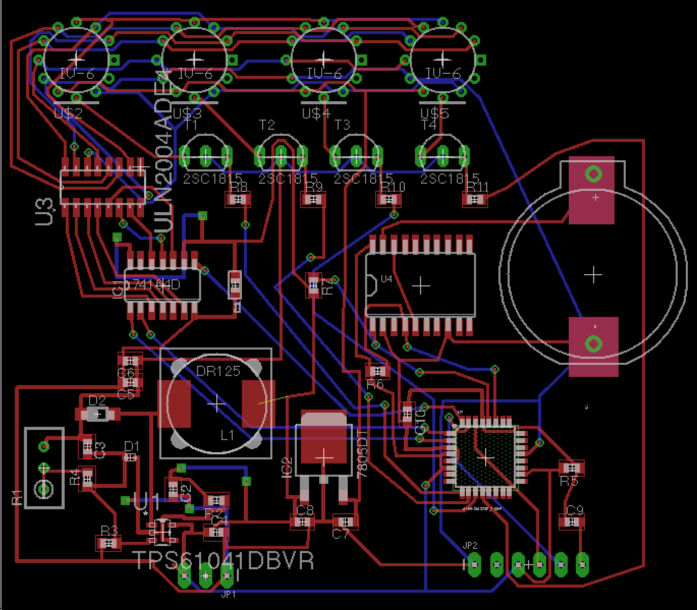 Russian Vfd Clock Images Tps61040 Boost Converter Schematic The Pinout Of Iv 3a Is Compatible With 6 Nixie Not Voltage But Just Pin And Also Lmr62421