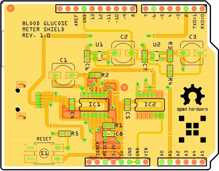 Open source Arduino blood glucose meter shield   Hackaday io