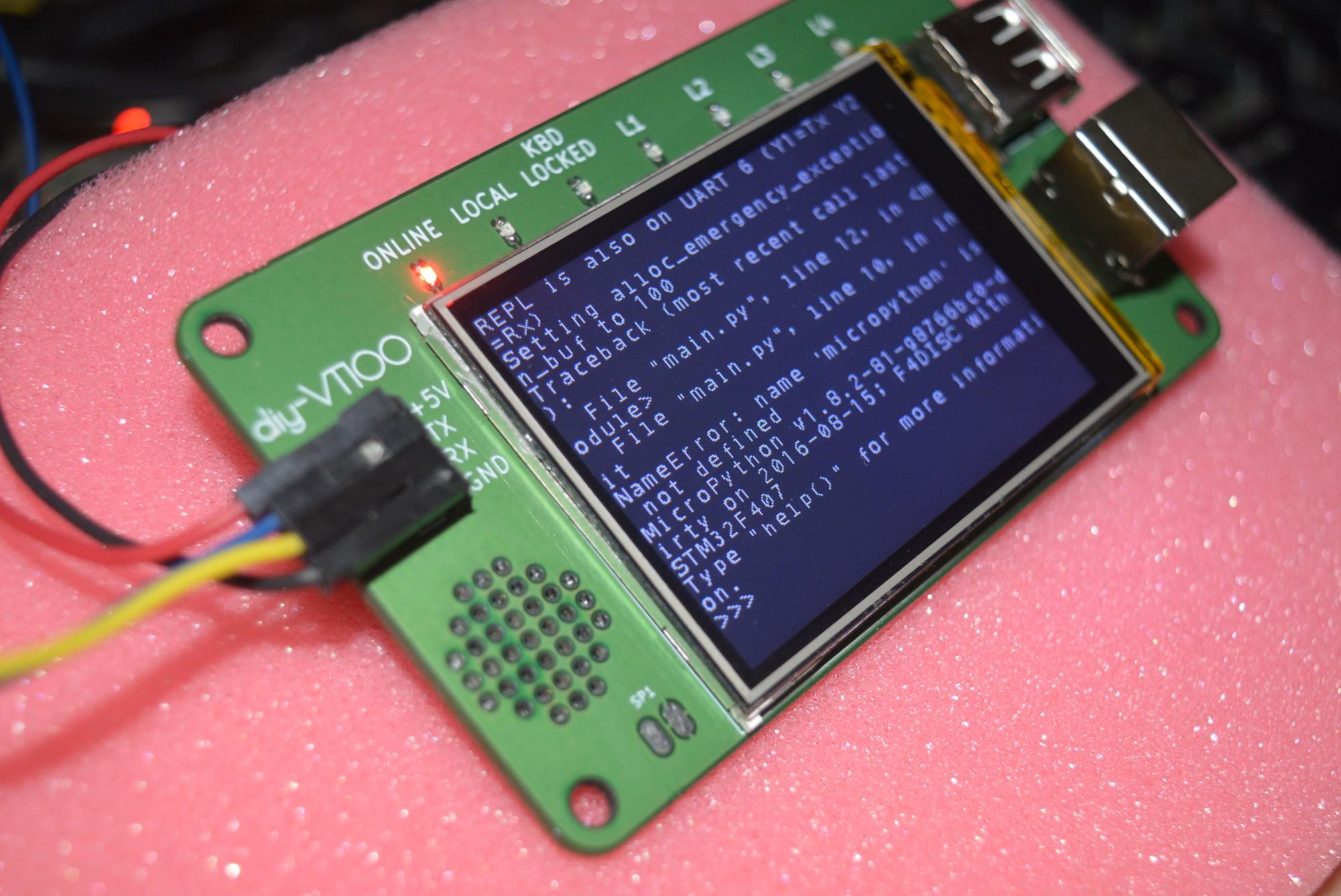 diy-VT100 Revision 2 | Details | Hackaday io
