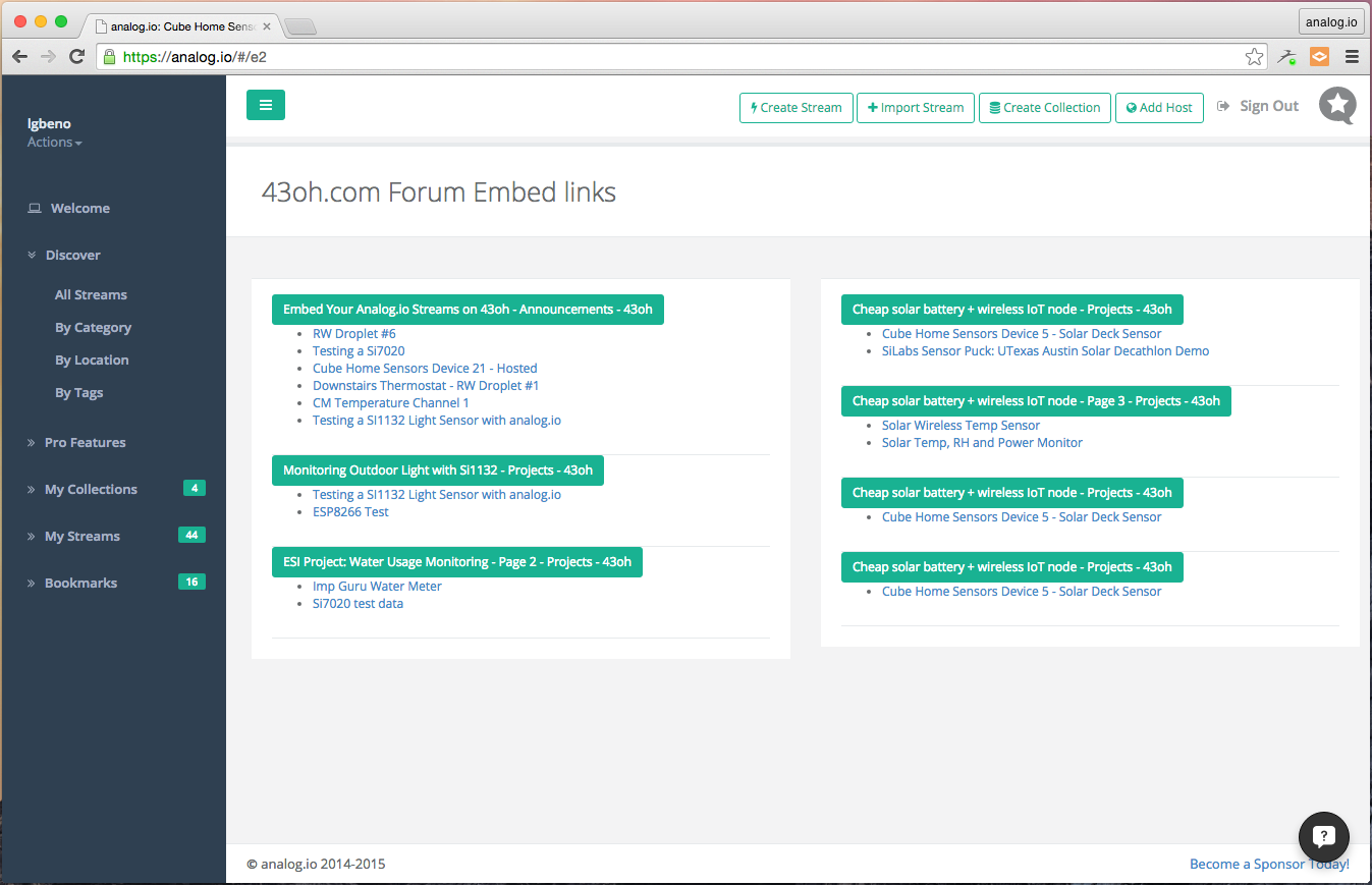 Embedding sharing data details for Embed a forum into your website