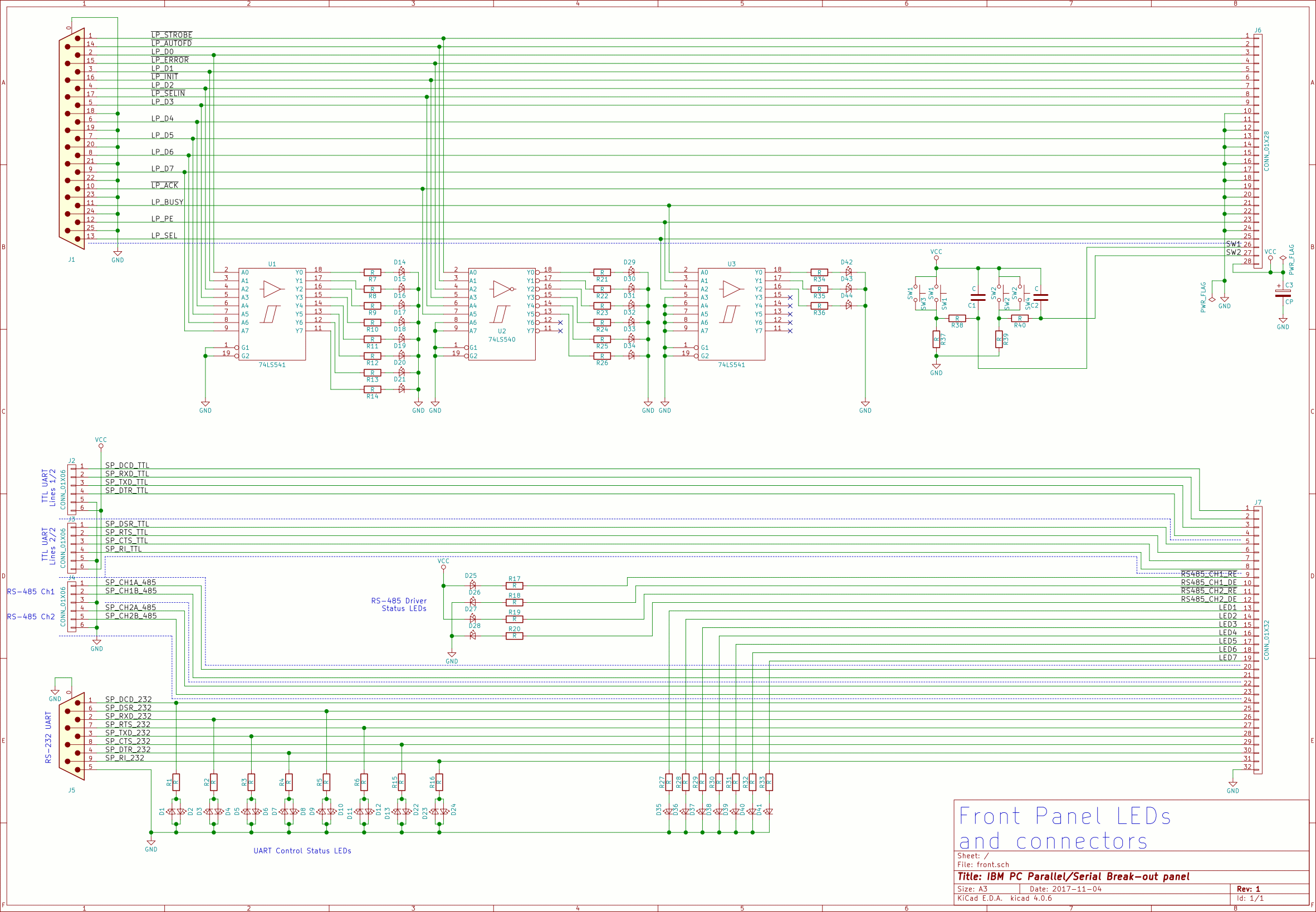 Ieee 1284 A Parallel Port Connector Pinout Schematic Diagram