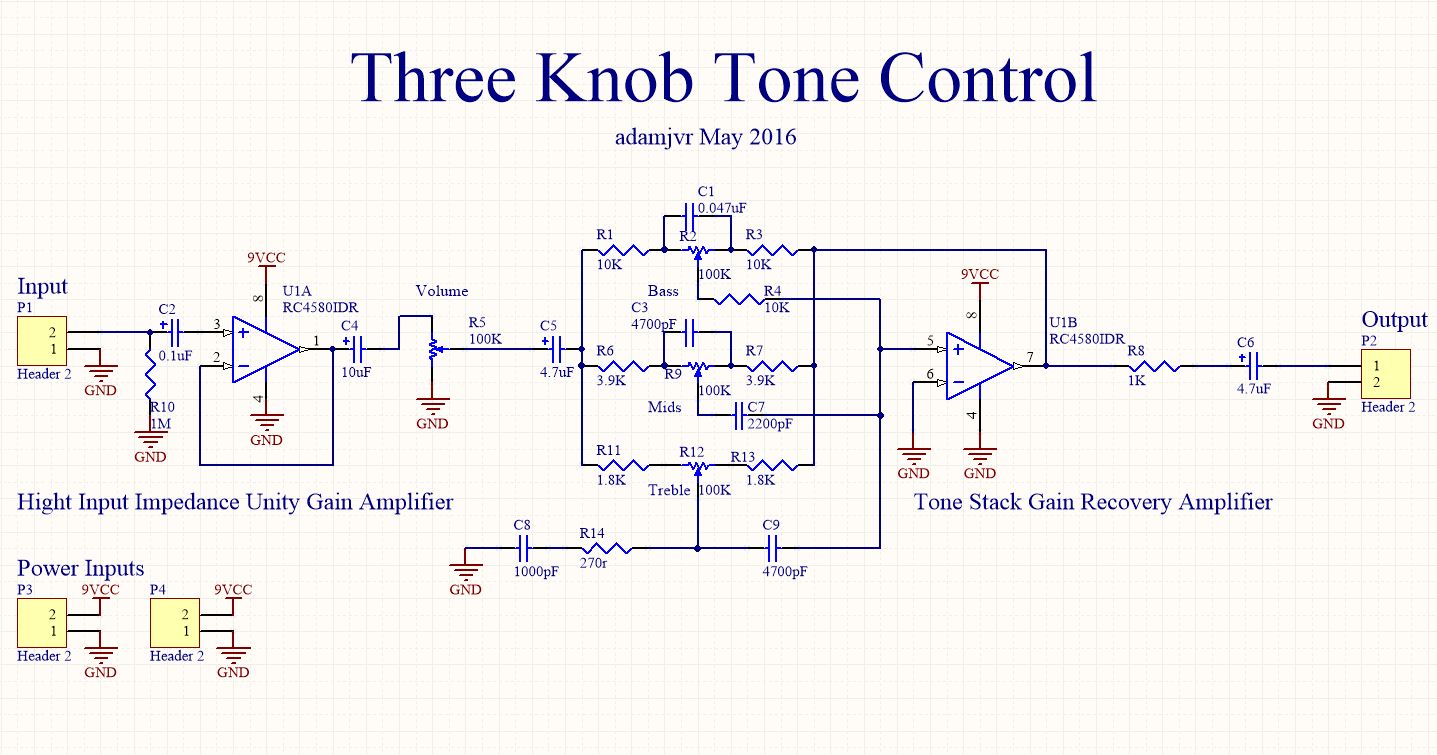 One Tone Control Wiring Diagram Library Vol Piezo The Schemtic Went Pretty Quick Though Finding All Appropriate Components Took Quite A While