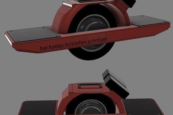diy electric one-wheeled vehicle