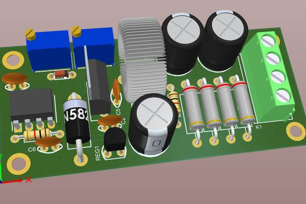 A variable switching power supply using LM2576