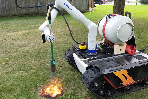 AI-Powered Weed Killing Robot