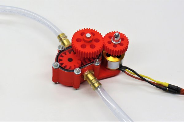 3D-printable double helical gear pump *watertight*