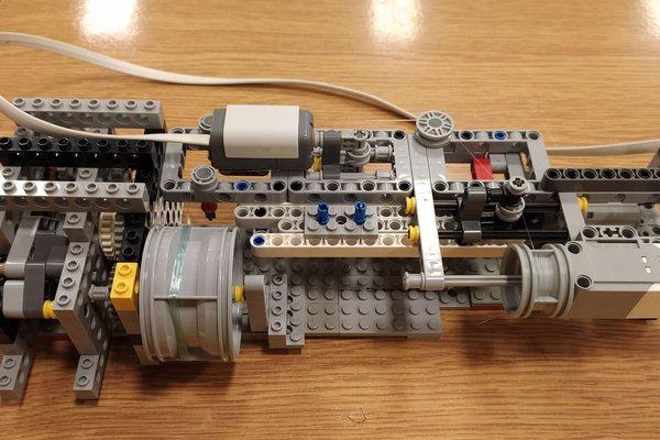 LEGO Coil winding machine