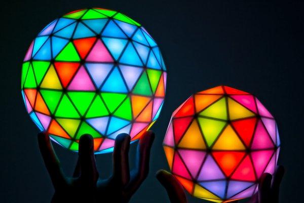 Geodesic(k) RGB LED Spheres