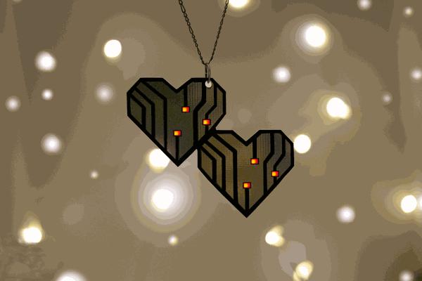 Kawaii Hearts Pendant