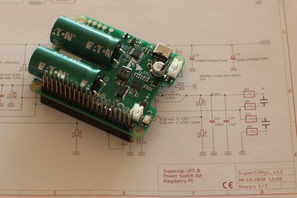 Raspberry Pi SuperCapacitor UPS & Power Switch