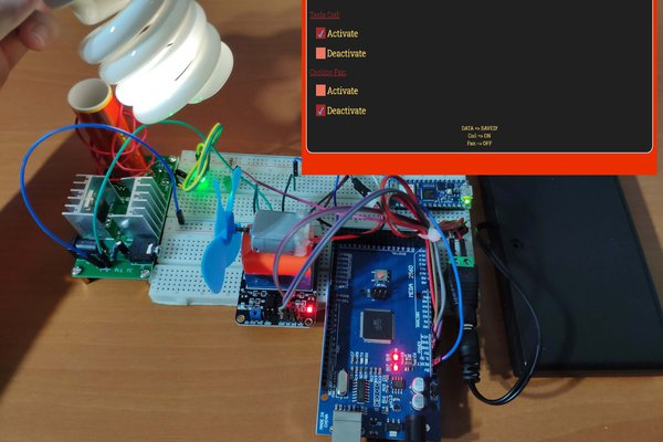 IoT Tesla Coil and Cooling Fan on the Localhost