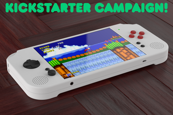 Portable Retro Game Console with 7.9-inch display