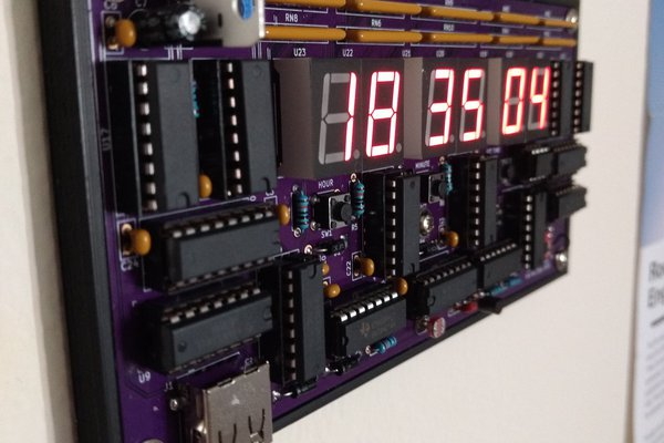 A zero-software digital clock from scratch