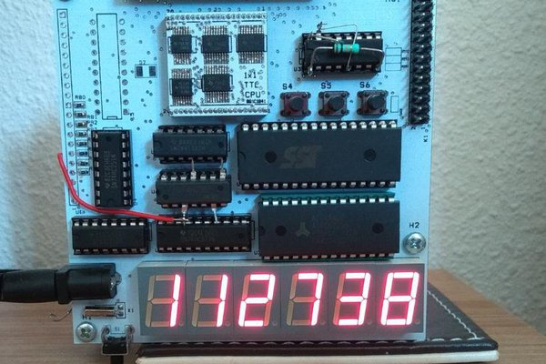 CLOCK driven by small homebrew CPU