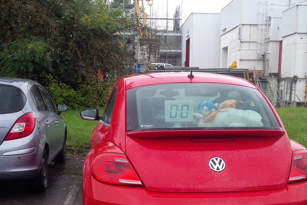 Rear car speedometer