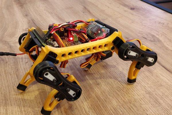 Edog - Mini 3D printed Quadruped Robot ✨