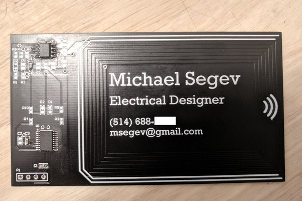 NFC Energy Harvest PCB Business Card