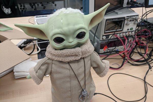 The Child: Animatronic hack of Baby Yoda plush toy