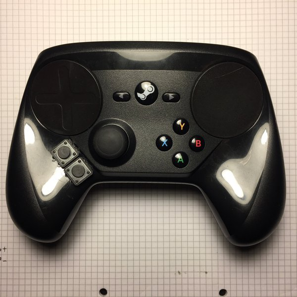 Steam Controller mod: ABXY buttons on the left | Hackaday io