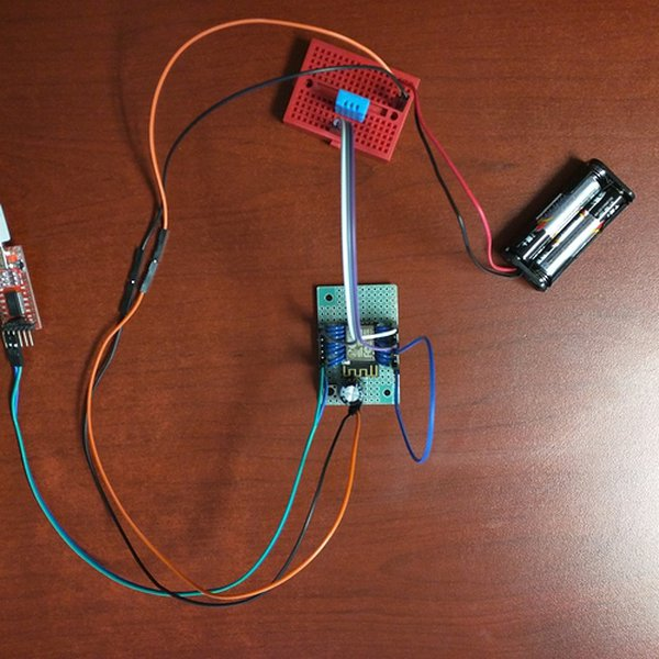 Battery Powered ESP8266 Temp/Humidity Monitor