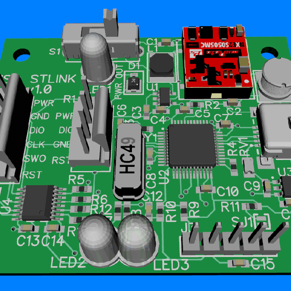 Isolated ST-Link v2 with power output   Hackaday io