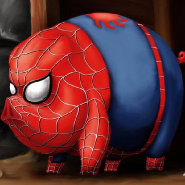 российский картинка свина паука только