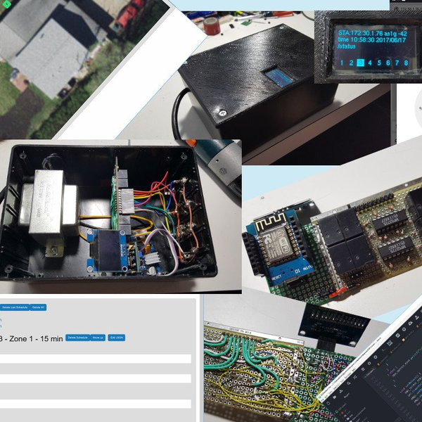 WiFi Lawn/Garden Sprinkler Controller (ESP8266) | Hackaday io