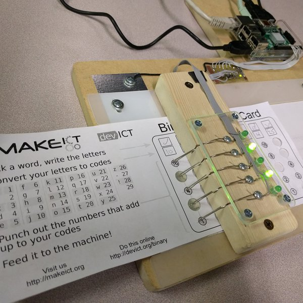 Binary Punched Card Reader