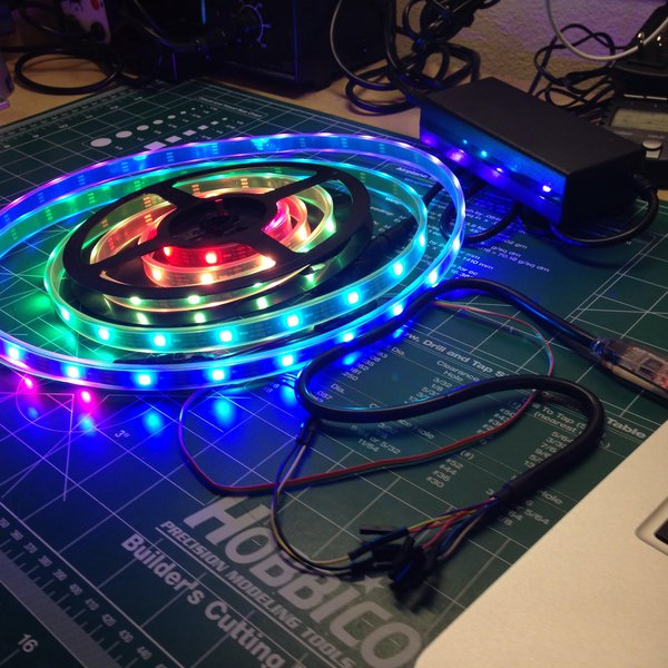 Drive NeoPixel WS2811/WS2812 LEDs From Your PC | Hackaday io