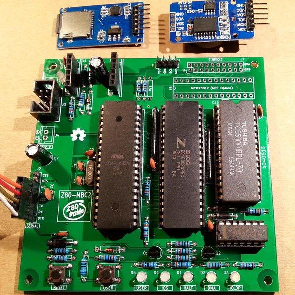 Z80-MBC2: a 4 ICs homebrew Z80 computer
