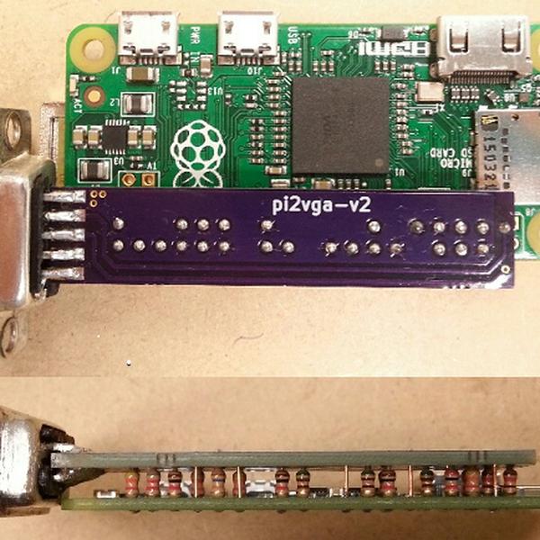 Super low cost VGA output for the Pi Zero   Hackaday io