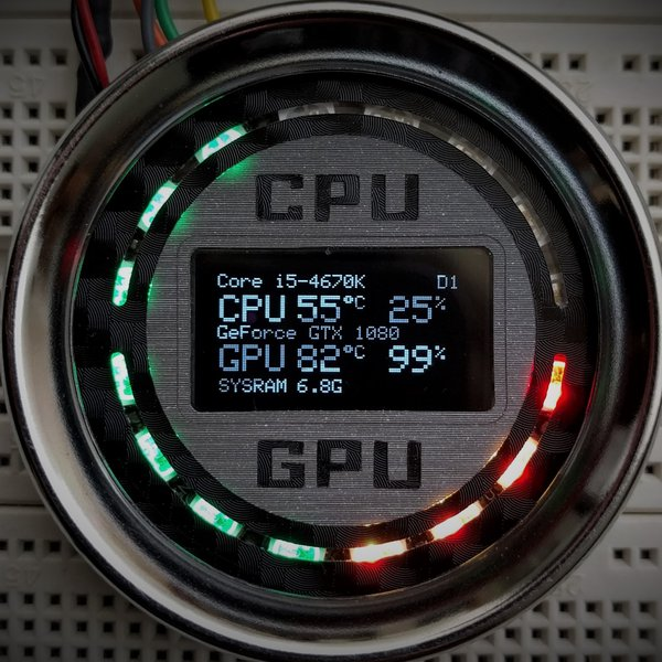 Gnat-Stats, Tiny OLED PC Performance Monitor