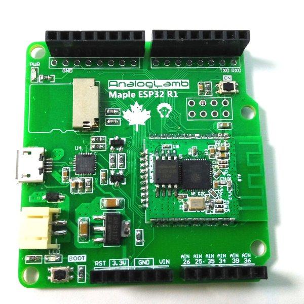 Maple ESP32 - ESP32 WiFi & BT board with Micro SD | Hackaday io