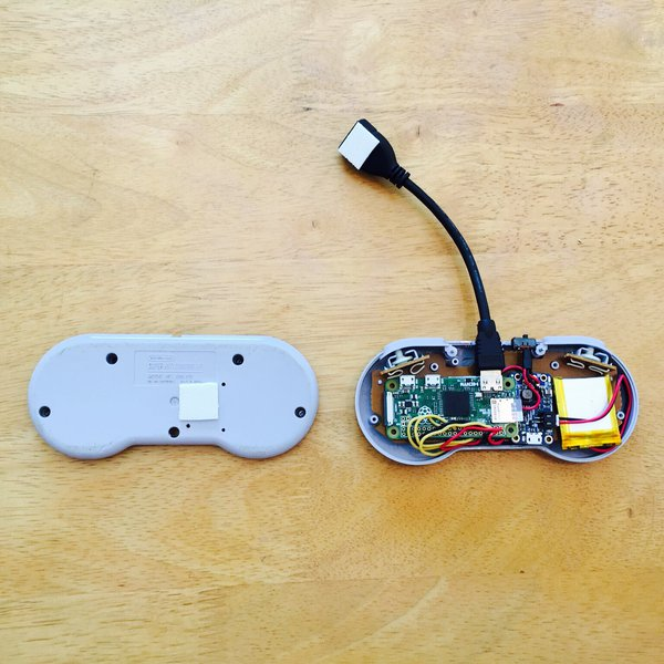 Raspberry Pi Zero inside an SNES Controller