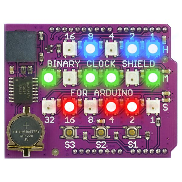 Binary Clock Shield for Arduino