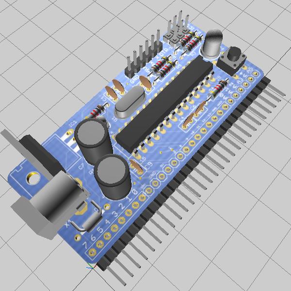 Vertically mounted arduino for breadboard hackaday