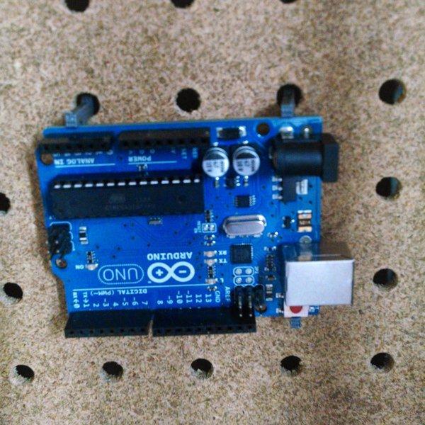 Arduino pegboard holder hackaday